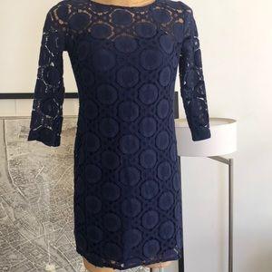 Trina Turk LA lace navy dress Size 2